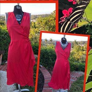 NWOT Beautiful Red wrap dress midi sz6👠💃🏻🌹🥰🍓